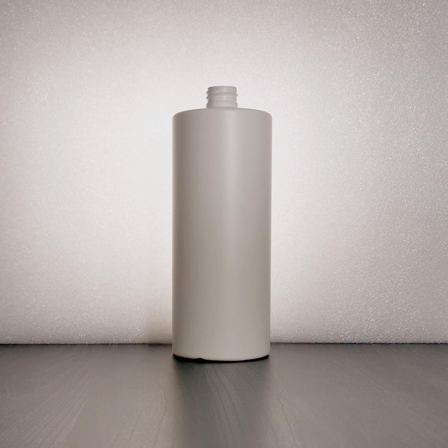 Suora-olkainen HDPE 1000ml DIN 28/410 muovipullo valkoinen