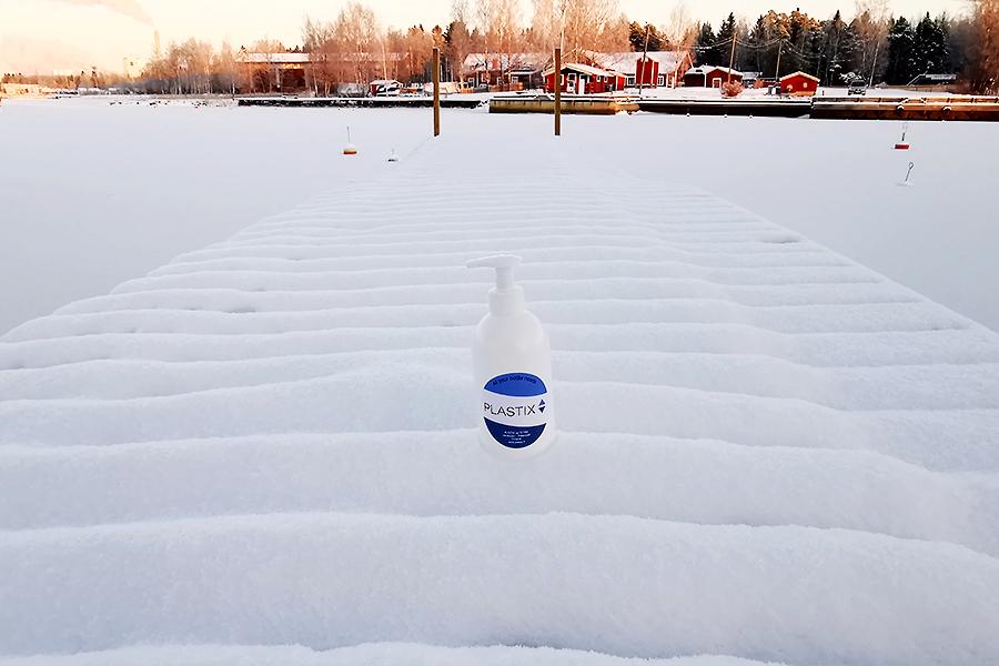 Pullo HDPE 500 ml tai 1000 ml with pumppi 28/410 DIN Valkoinen