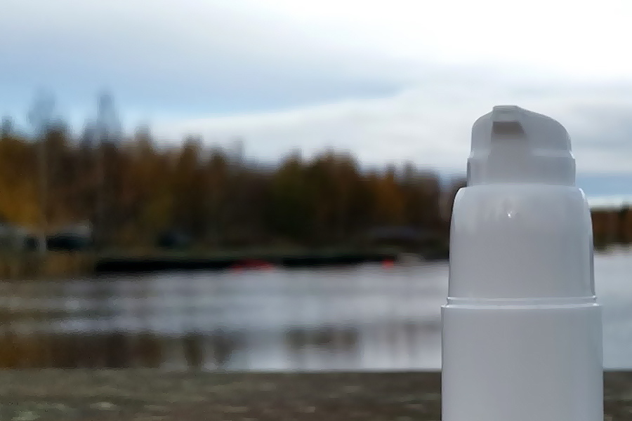 Serum dosage bottle pump for cosmetics