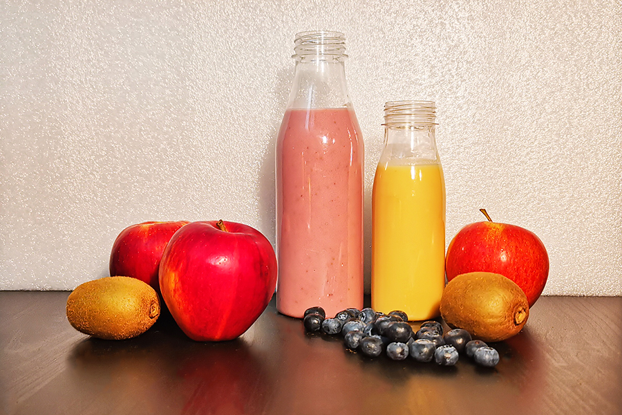 Smoothie and other beverige bottles with certification