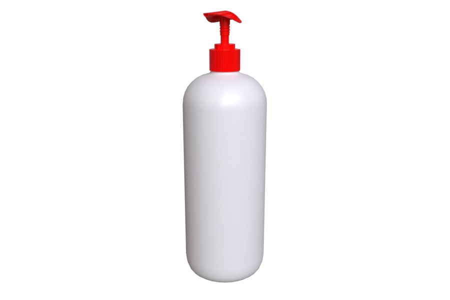 Punainen SCREW 28/410Pump PLASTIX manufacturer 500ml bottle