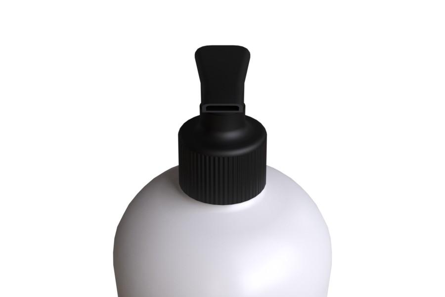 Pullon Pumppu SLIM 28/410 musta etupuoli HDPE pullo