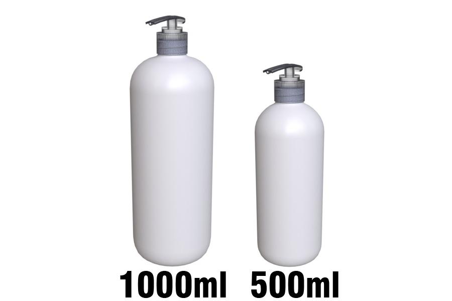 Pumppupullot pyöreäolkaiset 500ml & 1000ml sekä STORK pumput
