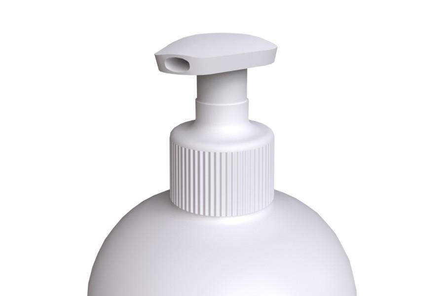 Soap Pump STANDARD 28/410 white color on bottle