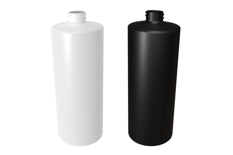 1000 ml Suora Olkainen Pullo Musta ja Valkoinen 28/410