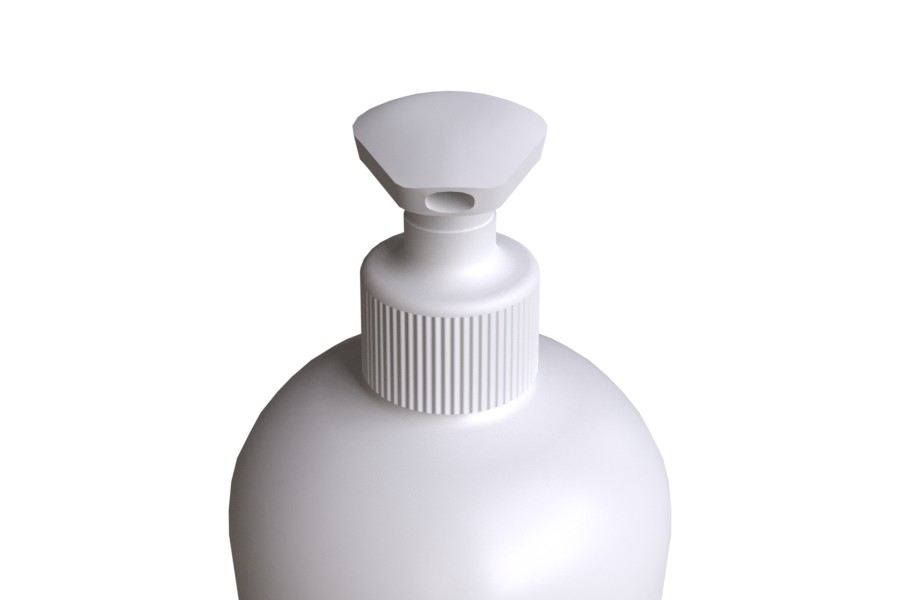 Soap Pump STANDARD 28/410 shape with white bottle