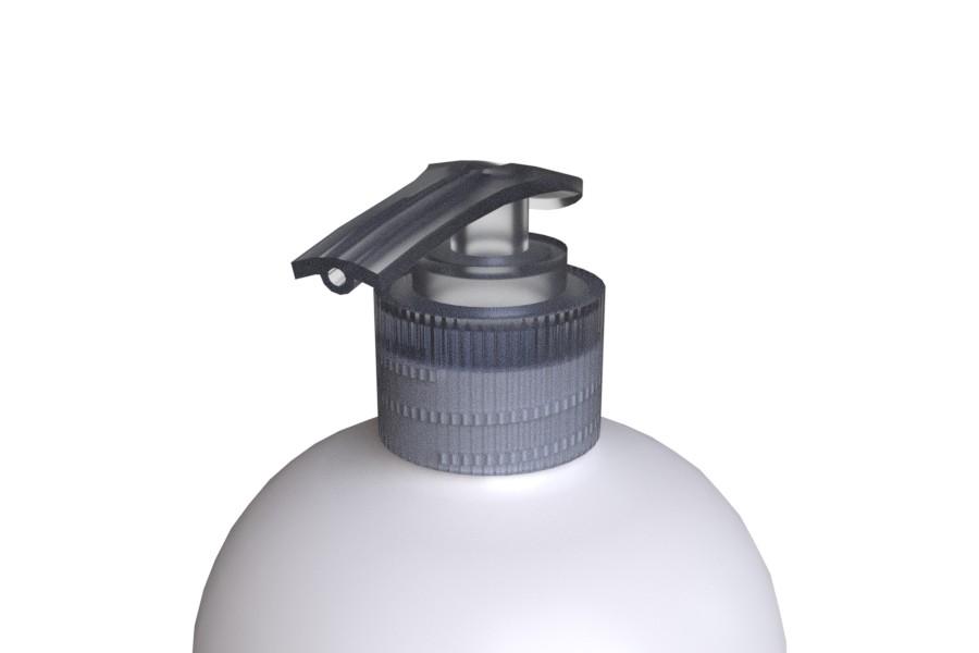 Läpikuultava STORK 28/410 pumppupullon saippuapumppu