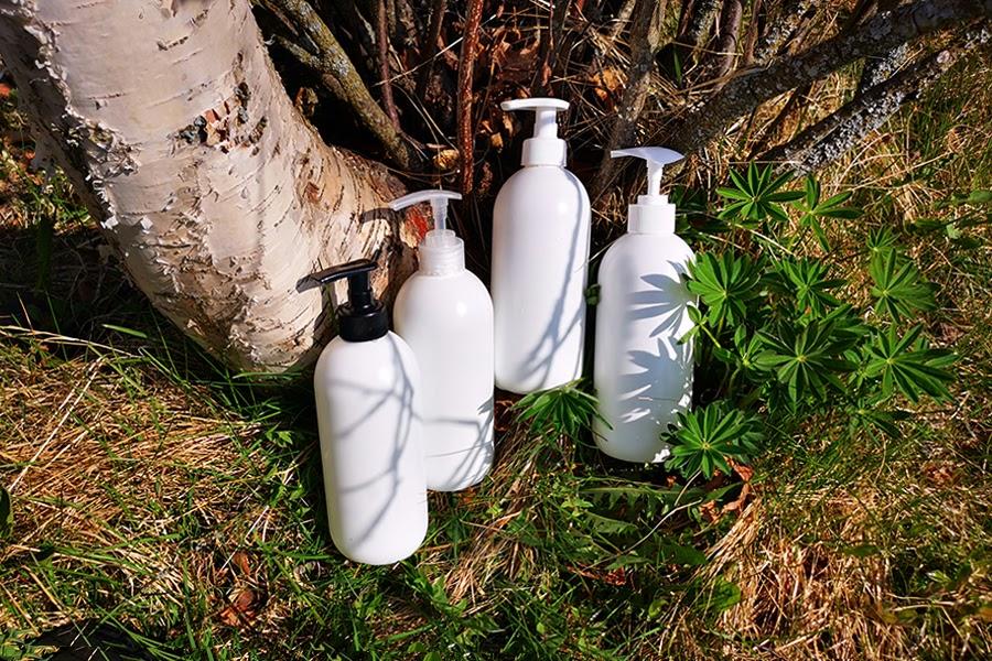 Pullopumput musta, läpikuultava, valkoinen HDPE pullo 500ml