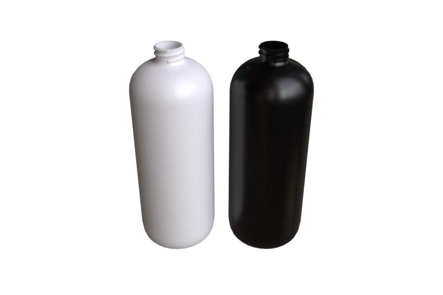 1000 ml muovipullo PLASTIX valkoinen ja musta