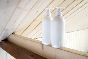 PET 500 ml bottles, lotion pumps, white, transparent